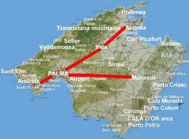 Mallorca maps photos tourist guide information property villas